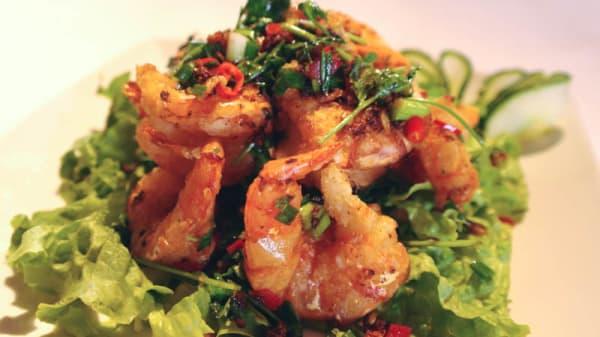 Crevettes sautées au poivre et sel - Lotus Canton, Bagnolet