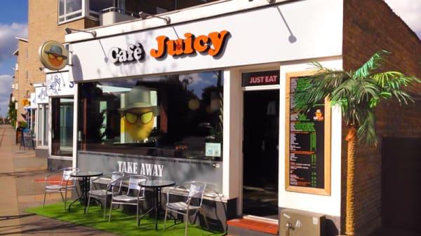 Restaurangens front - Cafe Juicy, Vanløse