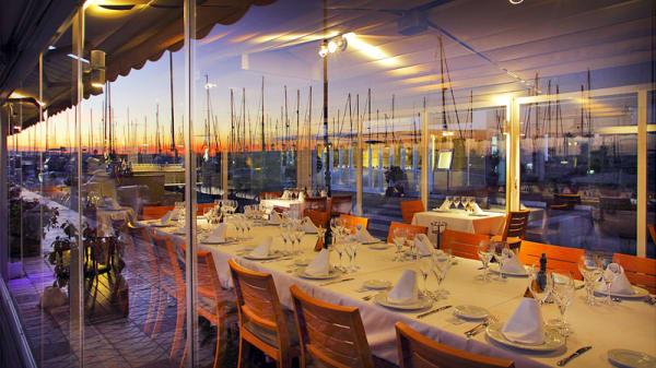 vista terraza y puerto - Can Laury Peix, Sitges