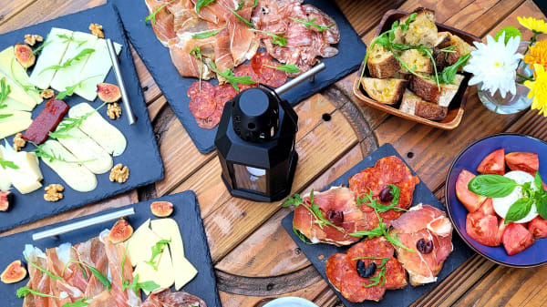 Wide range of cured meats and traditional cheeses, snack...  - OPS Wines, London