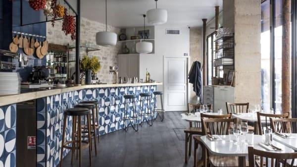 La salle de l'entrée et le bar - Gemma, Paris