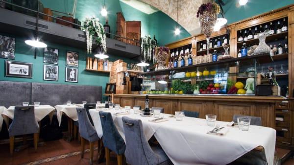 Sala del ristorante - Osteria Belle Donne, Firenze