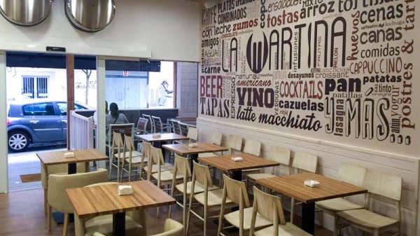 Vista del interior - Cervecería La Martina, Ferrol