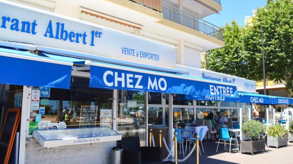 """Restaurant """"Chez Mô - Albert 1er"""" : la terrasse vue mer - Chez Mô - Albert 1er, Antibes"""