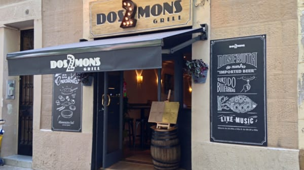 Fachada del restaurante - Dos Mons Grill, Barcelona