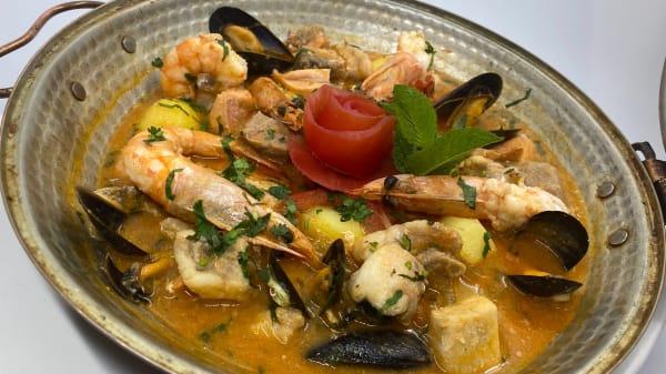 CATAPLANA DE PEIXE different sort of steam boiled fish stew - Oceano Restaurant, London