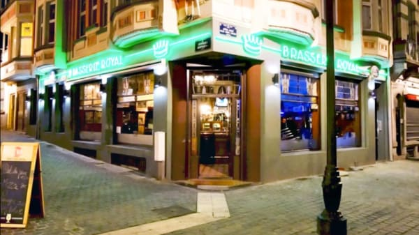Restaurant's front - Brasserie Royal, Brussels