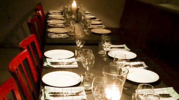 Dining room detail - Parkvillan, Åre
