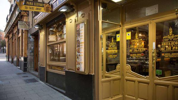 Fachada - Chocolatería de la Puerta del Sol, Madrid