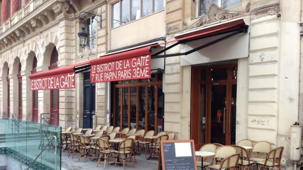Façade - Le Bistrot de la Gaité, Paris