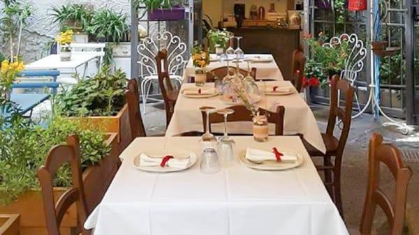I tavoli all'ingresso - Mariterraneo, Salerno