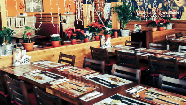 Detalle mesas - Ronnie´s Family Restaurant, San Lorenzo De El Escorial