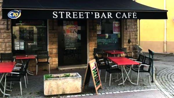 vue de la terrasse - Street'bar Café, Saint-Symphorien-d'Ozon