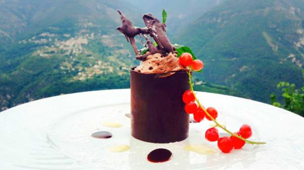 La mousse au chocolat de l'auberge - L'Auberge du Moulin, Bairols