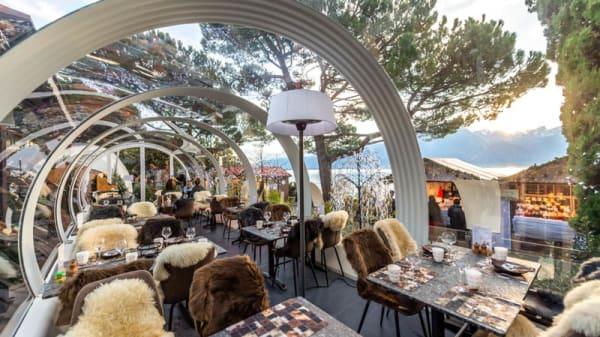 vue de la salle - Le Tube à Fondues - Eurotel Montreux, Montreux