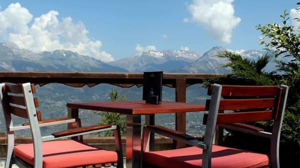 Vue de la terrasse - The View, Veysonnaz