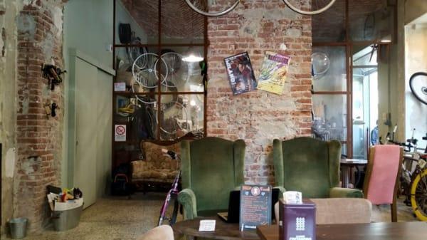 Vista sala - Bicierin ciclofficina con cucina, Metropolitan City of Turin