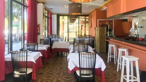 Sala del restaurante - Raja Mahal Lounge, Pozuelo de Alarcón