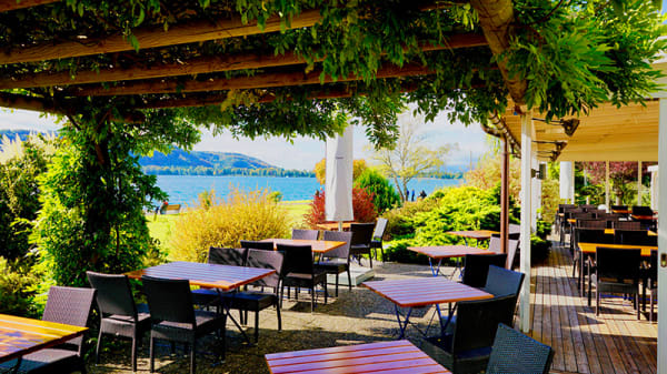 Vue de la terrasse - Hôtel Restaurant Jean-Jacques Rousseau, La Neuveville