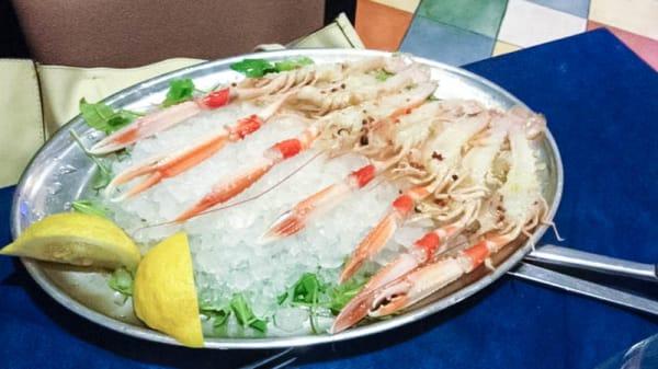 piatto di pesce con ghiaccio - La Corte del Mare, Rome