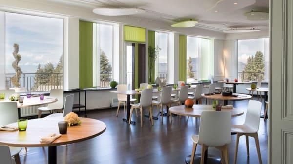 Salle du restaurant vue imprenable - Restaurant Fresh, Glion