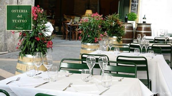 Particolare tavolo - Osteria del Teatro, Parma