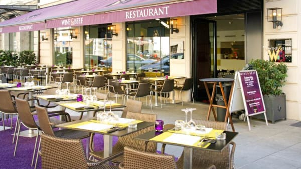 terrasse ensoleillée - Wine & Beef Lévrier, Genève
