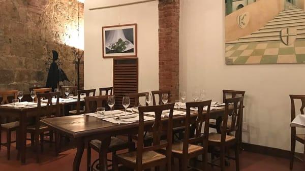 Interno - Enoteca i Terzi, Siena