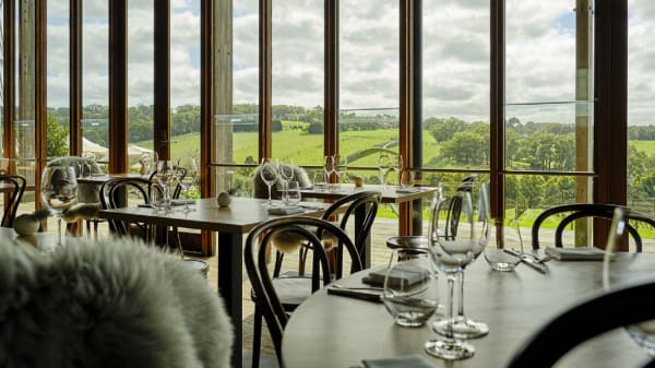 Restaurant dining room and view - Montalto Restaurant, Red Hill South (VIC)