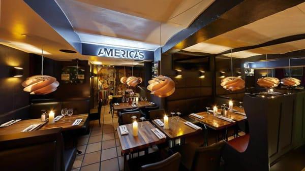 Restaurangens rum - Americas Grill, København