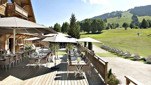 Terrasse - Club du Mont d'Arbois, Megève