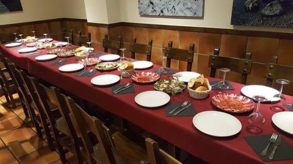 Vista mesa - Taberna Carey, Vitoria-Gasteiz
