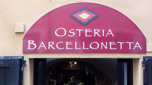 insegna - Osteria Barcellonetta, Alghero