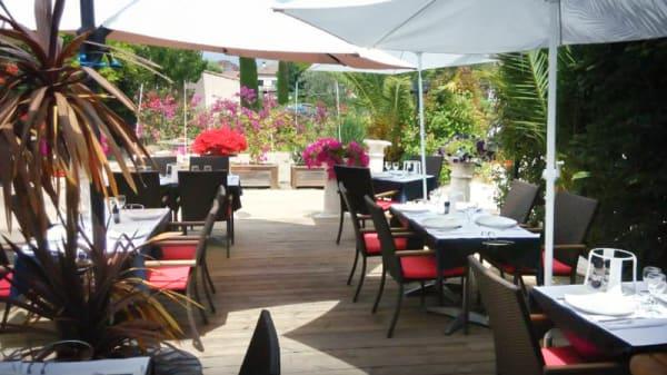 Vue de la terrasse - L'Ostréa, Biot