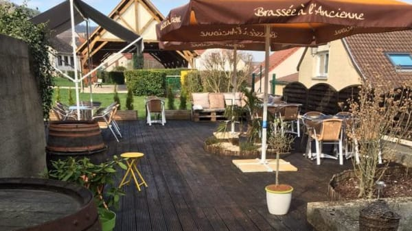 Terrasse - Le G'Houlot Champenois, Œuilly