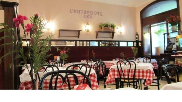 Vista comedor - L'Entrecote, Madrid