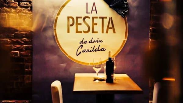 Detalle mesa - La Peseta de Doña Casilda, Madrid