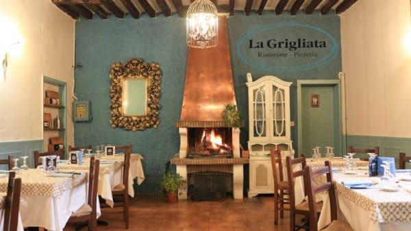 vista sala camino - La Grigliata, Argelato