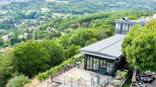 Vue terrasse - L'Ermitage Hôtel Cuisine à Manger, Saint-Cyr-au-Mont-d'Or