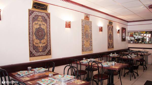Vue des tables - Les Délices du Maroc, Marseille