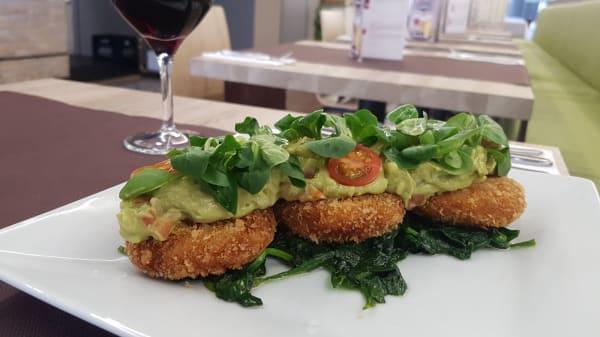 mini burgers vegetales con guacamole - Olivia Garden, Barcelona