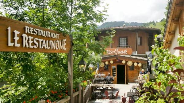 terrasse été - Le Restaunome, Megève