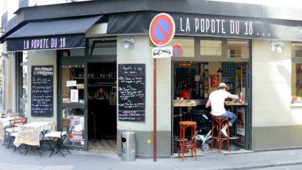 Devanture - La Popote du 18, Paris