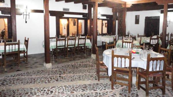 El patio interior - Mesón La Cerca, Chinchon