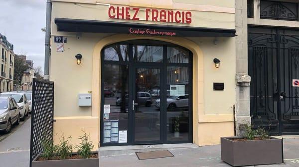 Entrée - Chez Francis, Reims