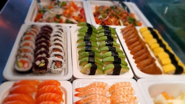 Sushi buffé - Pong Henriksdal, Stockholm