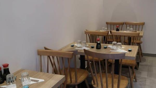 vue de la salle - Sushi Muraguchi, Paris
