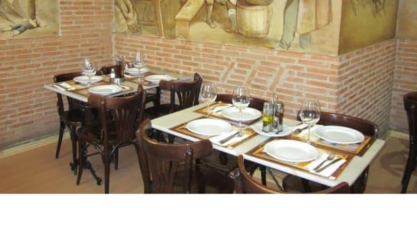 Vista mesa - La Olla, Madrid