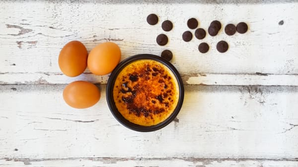 Créme brulée au chocolat - Le Bistrot des Dagueys, Libourne
