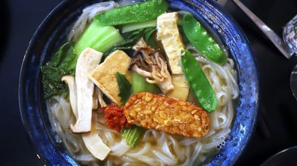 Vegan pho with soup - Sen Storm Noodle Bar & Grill, Fitzroy (VIC)